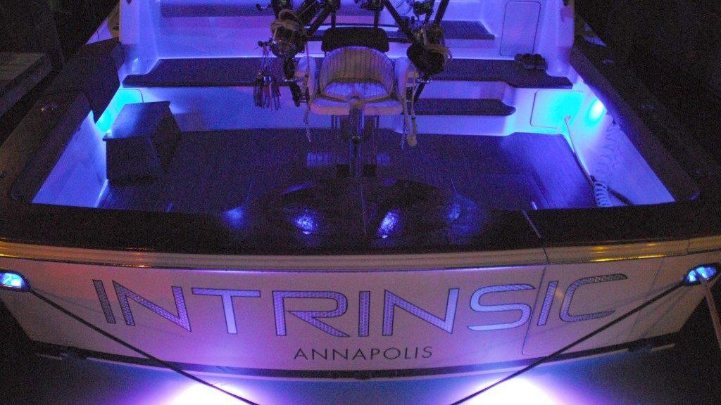 Intrinsic Yacht Transom Boat Named Intrinsic